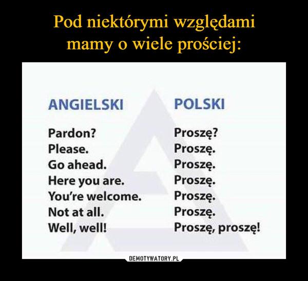 –  ANGIELSKI POLSKI Pardon? Proszę? Please. Proszę. Go ahead. Proszę. Here you are. Proszę. You're welcome. Proszę. Not at all. Proszę. Well, well! Proszę, proszę!