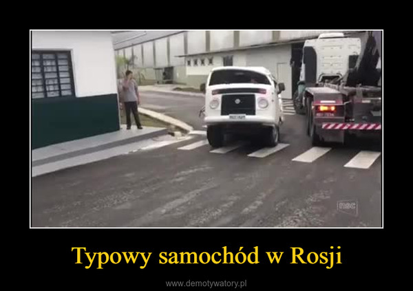 Typowy samochód w Rosji –