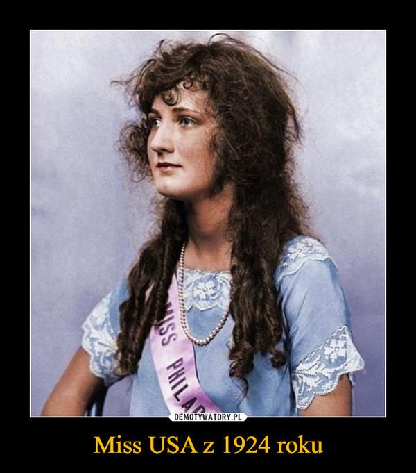 Miss USA z 1924 roku –