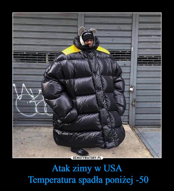 Atak zimy w USA Temperatura spadła poniżej -50 –