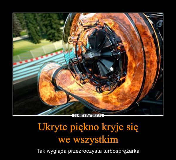 Ukryte piękno kryje sięwe wszystkim – Tak wygląda przezroczysta turbosprężarka