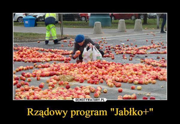 """Rządowy program """"Jabłko+"""" –"""