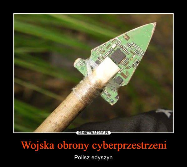 Wojska obrony cyberprzestrzeni – Polisz edyszyn