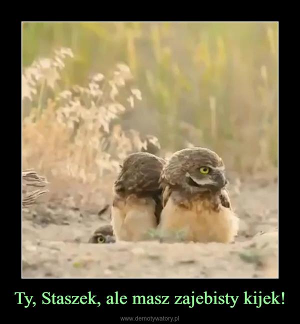 Ty, Staszek, ale masz zajebisty kijek! –