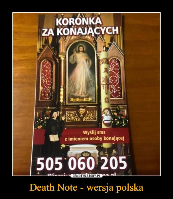 Death Note - wersja polska –