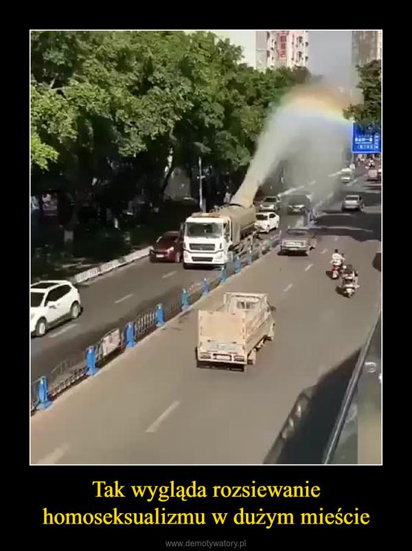 Tak wygląda rozsiewanie homoseksualizmu w dużym mieście –