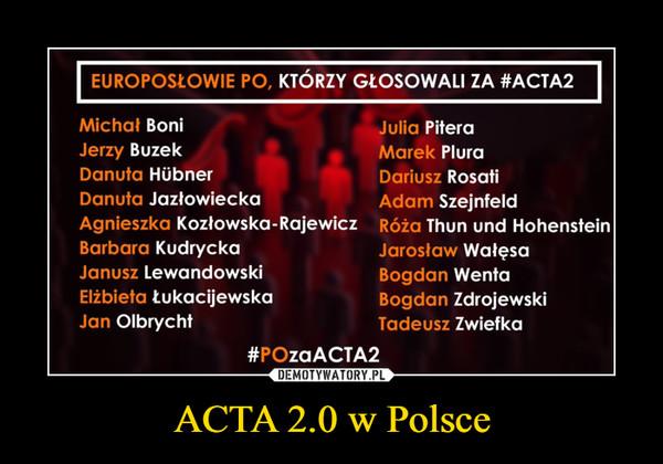 ACTA 2.0 w Polsce –