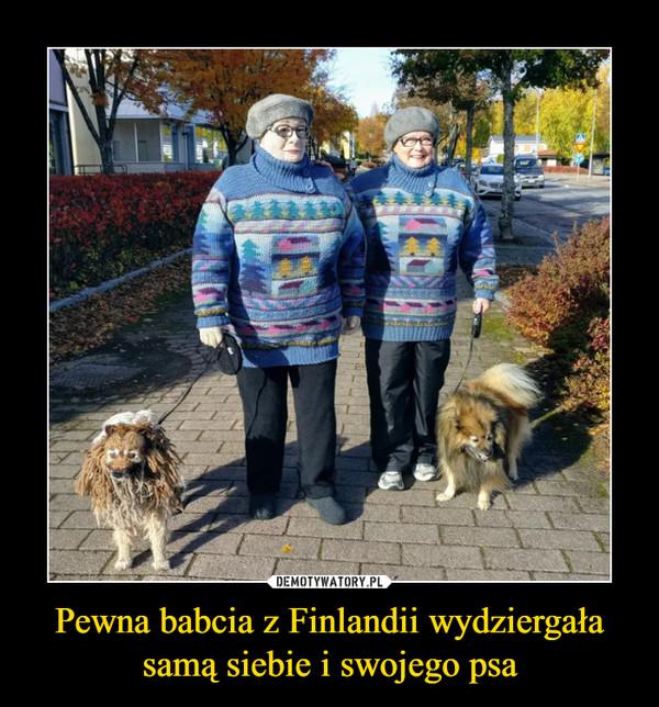 Pewna babcia z Finlandii wydziergała samą siebie i swojego psa –