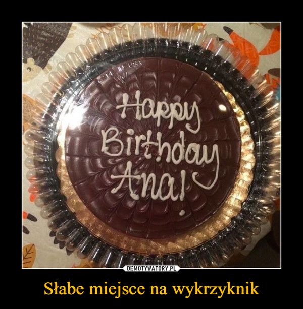 Słabe miejsce na wykrzyknik –  Happy Birthday Ana!