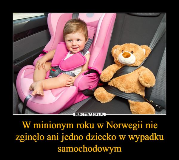 W minionym roku w Norwegii nie zginęło ani jedno dziecko w wypadku samochodowym