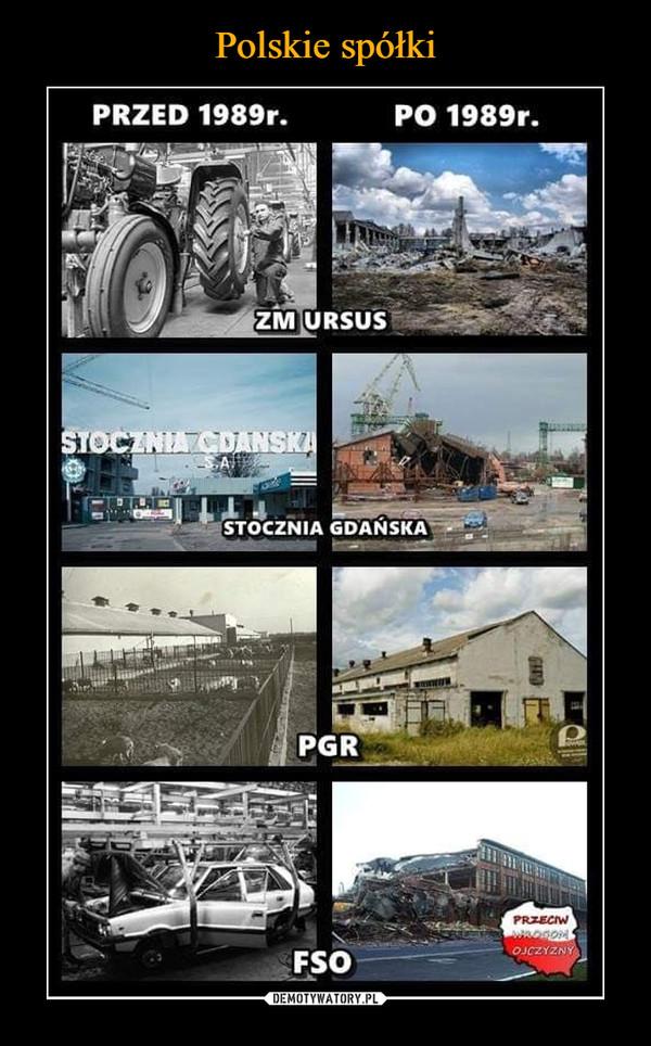 –  Przed 1989r po 1989 zm ursus stocznia gdańska pgr fso
