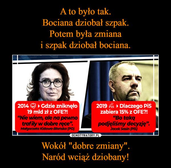 """Wokół """"dobre zmiany"""".Naród wciąż dziobany! –"""