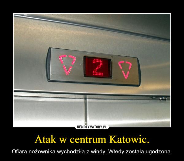 Atak w centrum Katowic. – Ofiara nożownika wychodziła z windy. Wtedy została ugodzona.