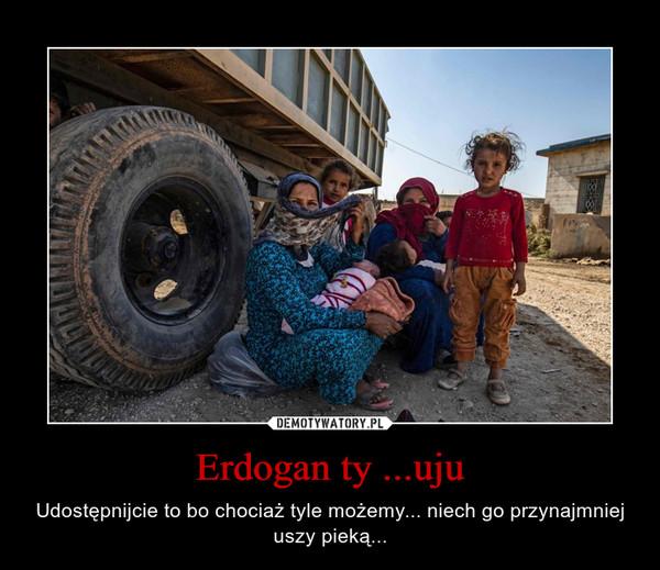 Erdogan ty ...uju – Udostępnijcie to bo chociaż tyle możemy... niech go przynajmniej uszy pieką...