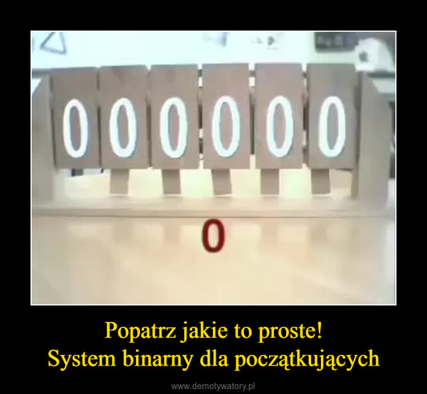 Popatrz jakie to proste!System binarny dla początkujących –