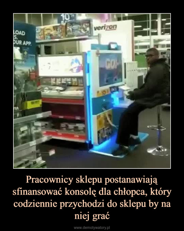 Pracownicy sklepu postanawiają sfinansować konsolę dla chłopca, który codziennie przychodzi do sklepu by na niej grać –