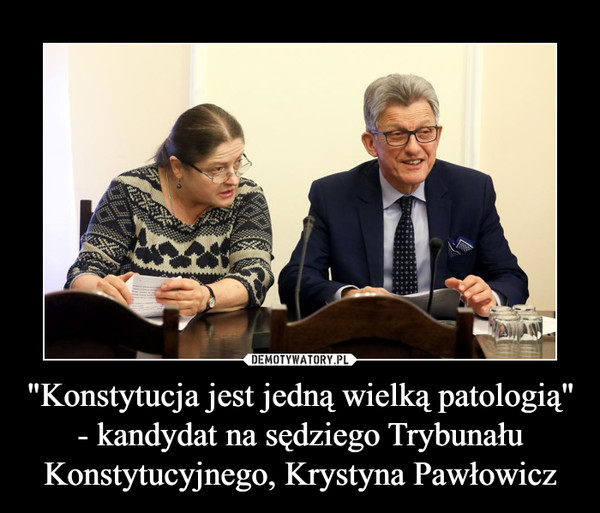 """""""Konstytucja jest jedną wielką patologią"""" - kandydat na sędziego Trybunału Konstytucyjnego, Krystyna Pawłowicz –"""