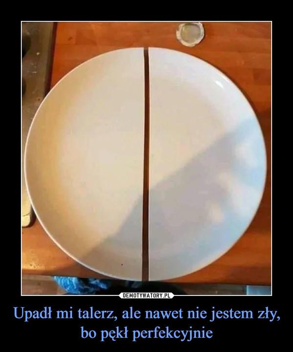 Upadł mi talerz, ale nawet nie jestem zły, bo pękł perfekcyjnie –