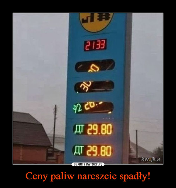 Ceny paliw nareszcie spadły! –