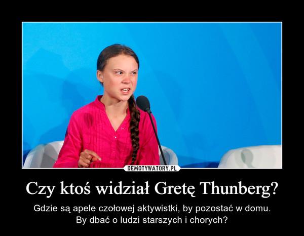 Czy ktoś widział Gretę Thunberg? – Gdzie są apele czołowej aktywistki, by pozostać w domu.By dbać o ludzi starszych i chorych?