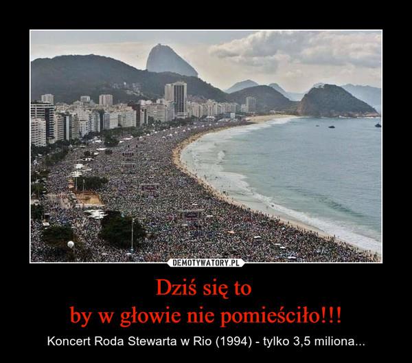 Dziś się to by w głowie nie pomieściło!!! – Koncert Roda Stewarta w Rio (1994) - tylko 3,5 miliona...
