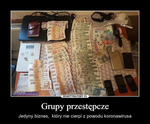 Grupy przestępcze – Jedyny biznes,  który nie cierpi z powodu koronawirusa