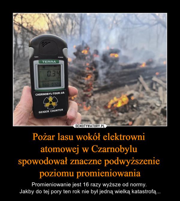 Pożar lasu wokół elektrowni atomowej w Czarnobylu spowodował znaczne podwyższenie poziomu promieniowania – Promieniowanie jest 16 razy wyższe od normy. Jakby do tej pory ten rok nie był jedną wielką katastrofą...
