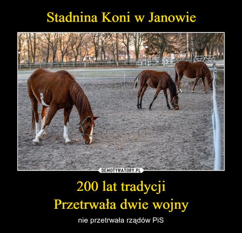 Stadnina Koni w Janowie 200 lat tradycji Przetrwała dwie wojny