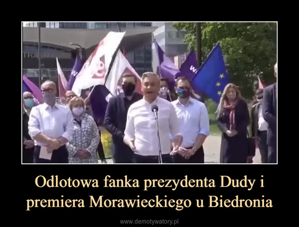 Odlotowa fanka prezydenta Dudy i premiera Morawieckiego u Biedronia –