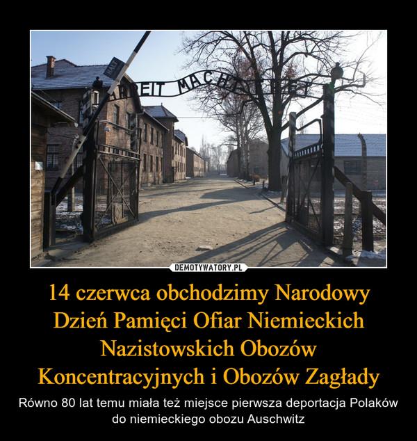 14 czerwca obchodzimy Narodowy Dzień Pamięci Ofiar Niemieckich Nazistowskich Obozów Koncentracyjnych i Obozów Zagłady – Równo 80 lat temu miała też miejsce pierwsza deportacja Polaków do niemieckiego obozu Auschwitz