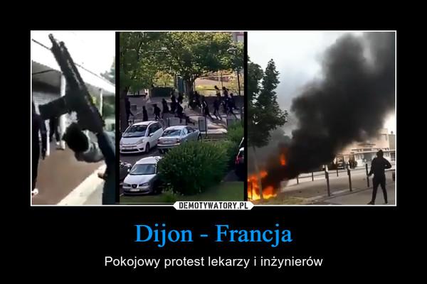 Dijon - Francja – Pokojowy protest lekarzy i inżynierów