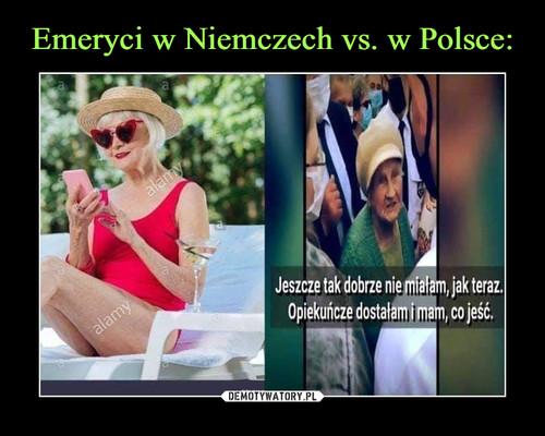 Emeryci w Niemczech vs. w Polsce: