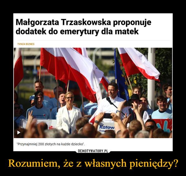 """Rozumiem, że z własnych pieniędzy? –  Małgorzata Trzaskowska proponuje dodatek do emerytury dla matek TVN24 BIZNES """"Przynajmniej 200 złotych na każde dziecko'."""
