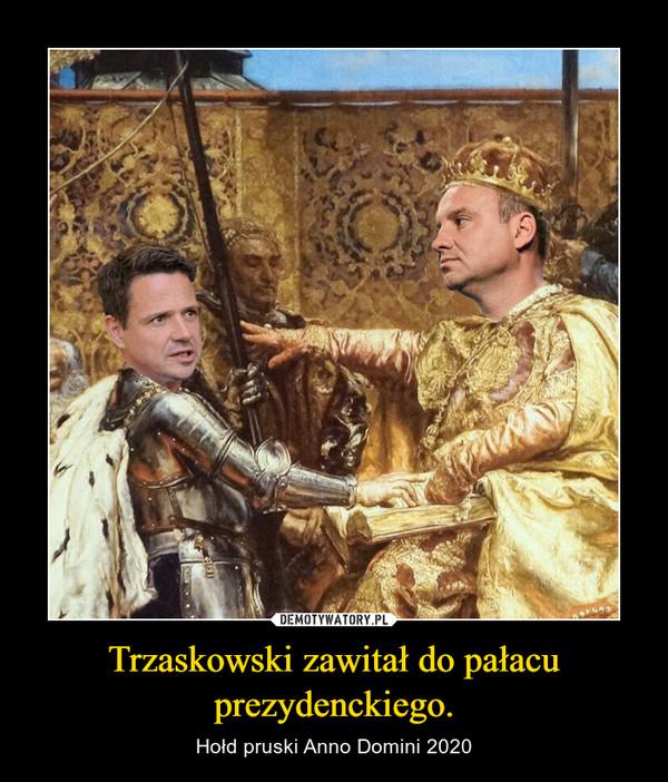Trzaskowski zawitał do pałacu prezydenckiego.