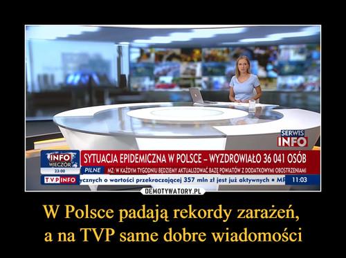 W Polsce padają rekordy zarażeń,  a na TVP same dobre wiadomości
