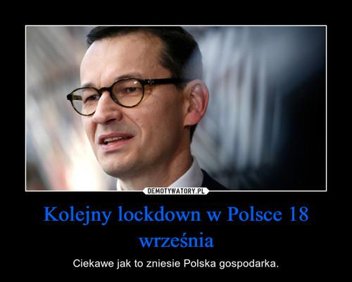 Kolejny lockdown w Polsce 18 września