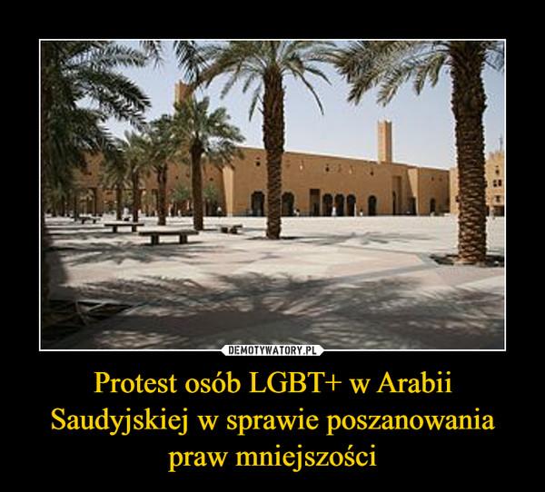 Protest osób LGBT+ w Arabii Saudyjskiej w sprawie poszanowania praw mniejszości –