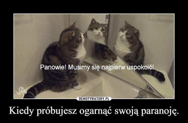 Kiedy próbujesz ogarnąć swoją paranoję. –  Panowie! Musimy się najpierw uspokoić!