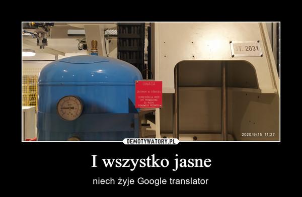 I wszystko jasne – niech żyje Google translator