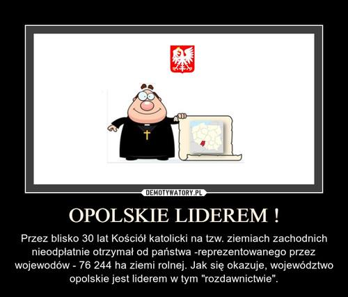 OPOLSKIE LIDEREM !