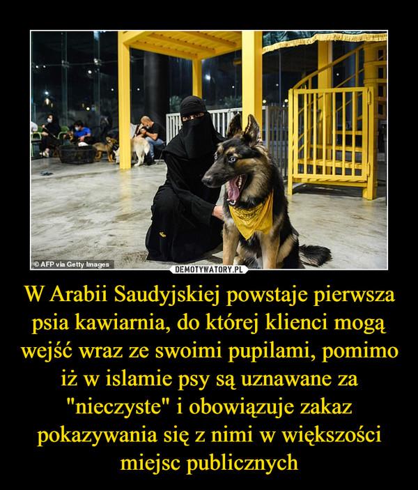 """W Arabii Saudyjskiej powstaje pierwsza psia kawiarnia, do której klienci mogą wejść wraz ze swoimi pupilami, pomimo iż w islamie psy są uznawane za """"nieczyste"""" i obowiązuje zakaz pokazywania się z nimi w większości miejsc publicznych –"""