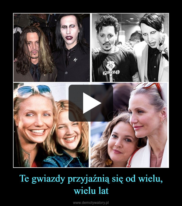 Te gwiazdy przyjaźnią się od wielu, wielu lat –