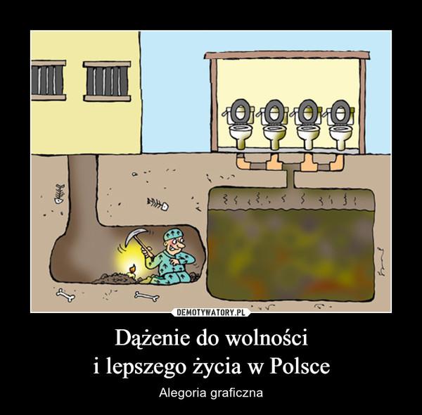 Dążenie do wolnościi lepszego życia w Polsce – Alegoria graficzna