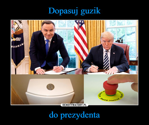 Dopasuj guzik do prezydenta