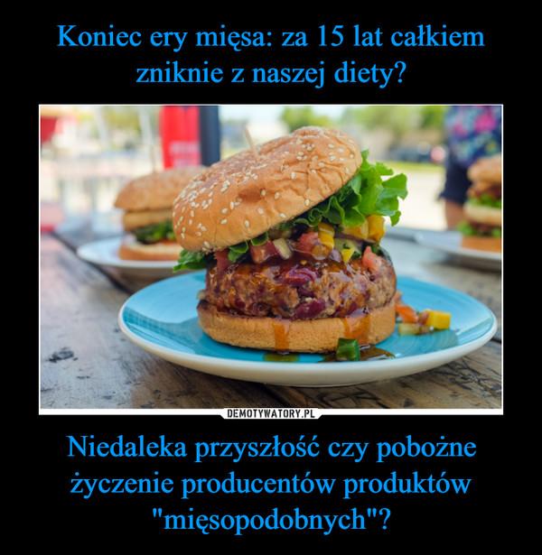 """Niedaleka przyszłość czy pobożne życzenie producentów produktów """"mięsopodobnych""""? –"""