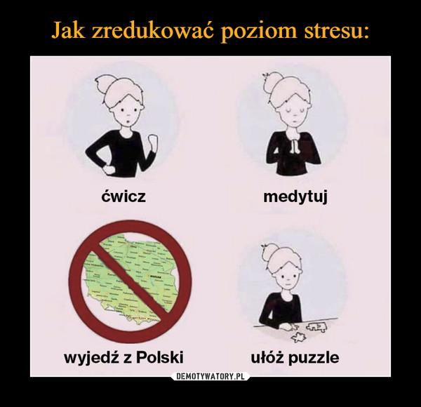 –  ćwicz medytuj wyjedź z Polski ułóż puzzle