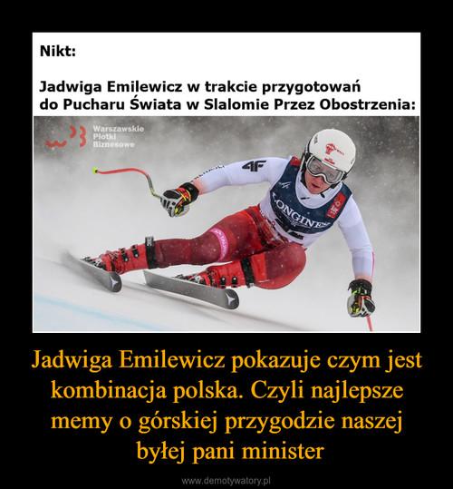 Jadwiga Emilewicz pokazuje czym jest kombinacja polska. Czyli najlepsze memy o górskiej przygodzie naszej  byłej pani minister