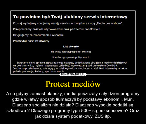 Protest mediów