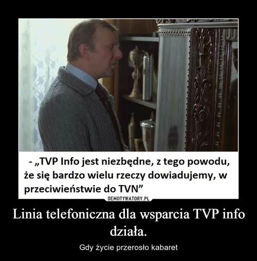 Linia telefoniczna dla wsparcia TVP info działa.