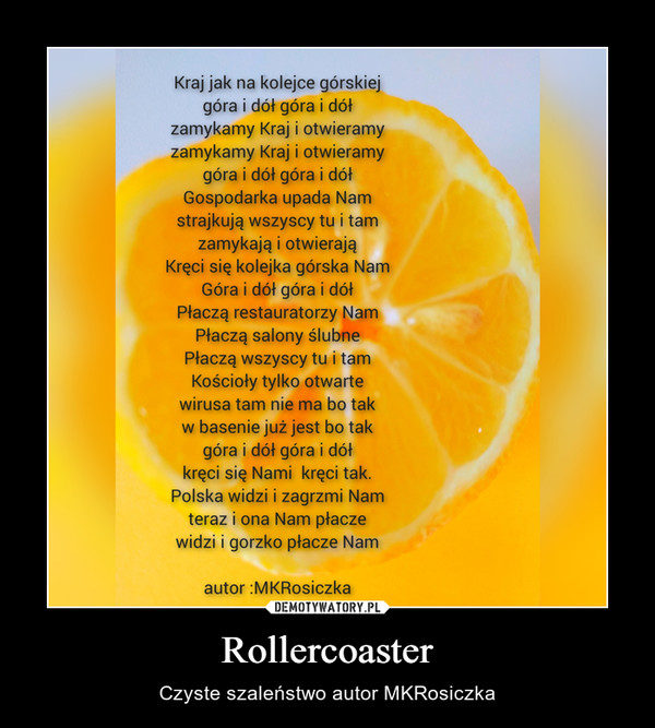Rollercoaster – Czyste szaleństwo autor MKRosiczka